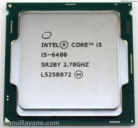 سی پی یو اینتل Intel Core i5-6400 6M Skylake Quad-Core 2.7 GHz
