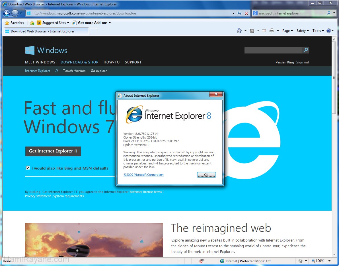 Internet Explorer 8.0 (XP) Resim 3