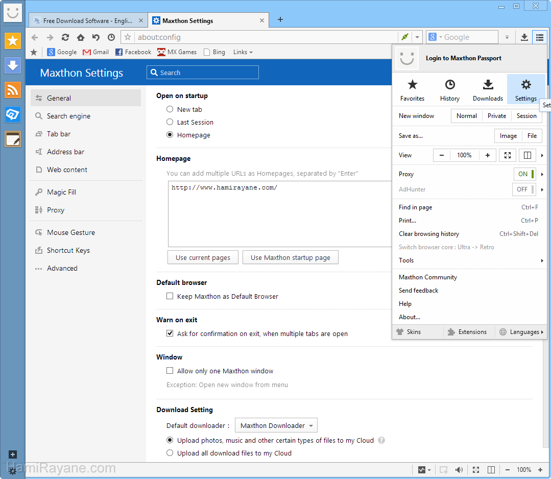 Maxthon Cloud Browser 5.2.0.1200