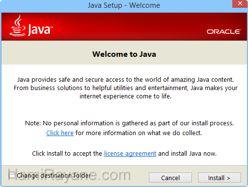 Java Runtime Environment 8.0 build 201 (32-bit) JRE Immagine 1