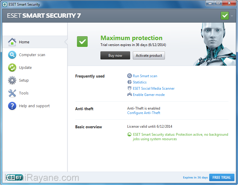 ESET NOD32 AntiVirus 12.1.31.0 (32bit) Picture 1