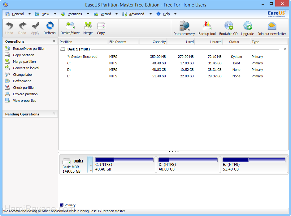 EaseUS Partition Master Free 12.8 Picture 7